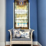 Barnes - Bench and Stainglass Vertical 3561